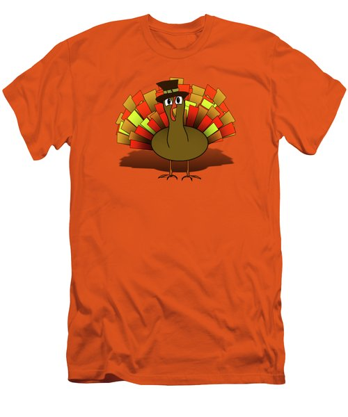 Thanksgiving Turkey Pilgrim Men's T-Shirt (Athletic Fit)