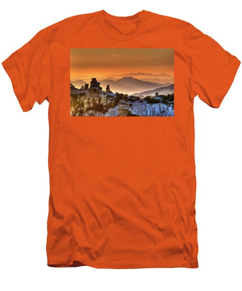 The Ahh Moment Men's T-Shirt (Slim Fit) by Lynn Geoffroy