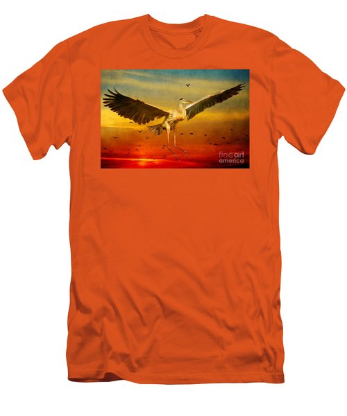 Men's T-Shirt (Slim Fit) featuring the photograph The Arrival And The Reuinion by Heather King