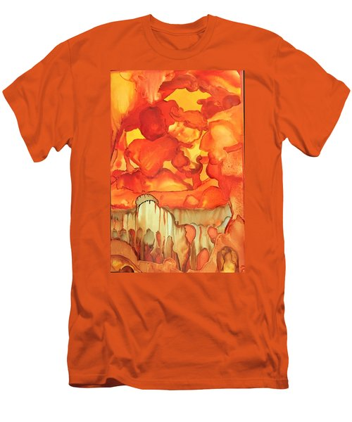 The Ball Of Fire Explodes Men's T-Shirt (Athletic Fit)