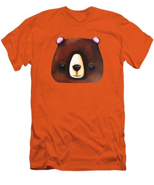 The Big Brown Bear Men's T-Shirt (Athletic Fit)