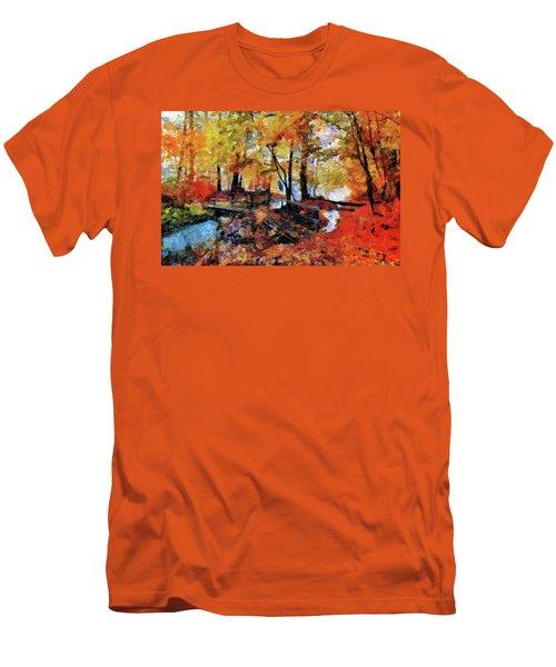 The Failing Colors Of Autumn Men's T-Shirt (Athletic Fit)