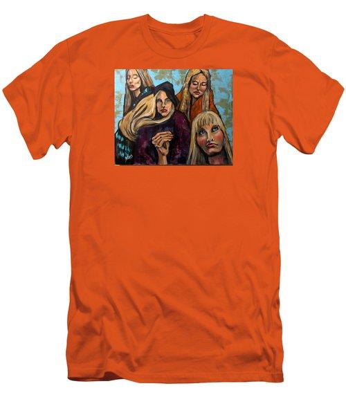 The Folk Singer Men's T-Shirt (Slim Fit) by Barbara O'Toole