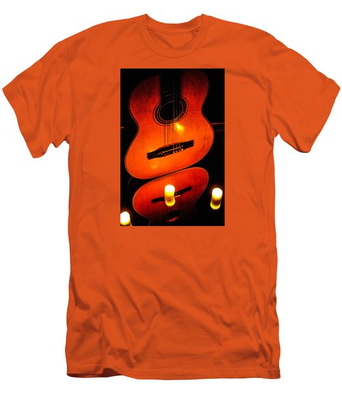 The Glow Of Music  Men's T-Shirt (Athletic Fit)
