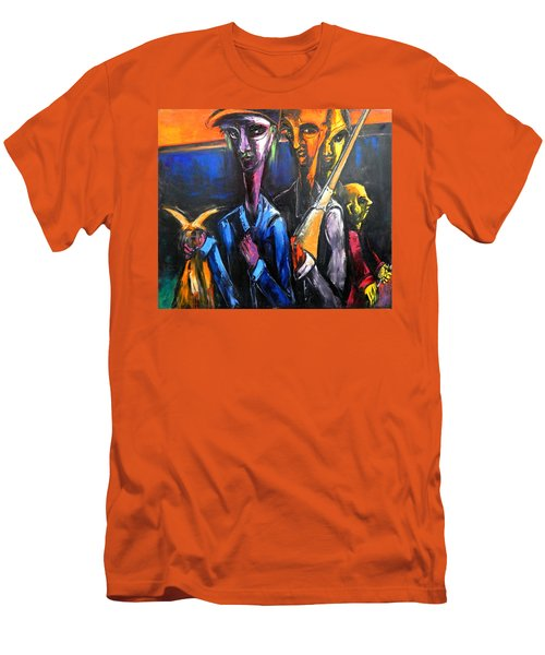 The Hunters Men's T-Shirt (Slim Fit) by Kenneth Agnello