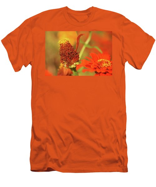 The Last Petal Men's T-Shirt (Slim Fit) by Donna G Smith