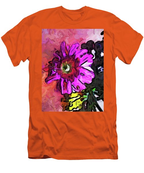 The Lavender Flower Above The Yellow Flower Men's T-Shirt (Athletic Fit)