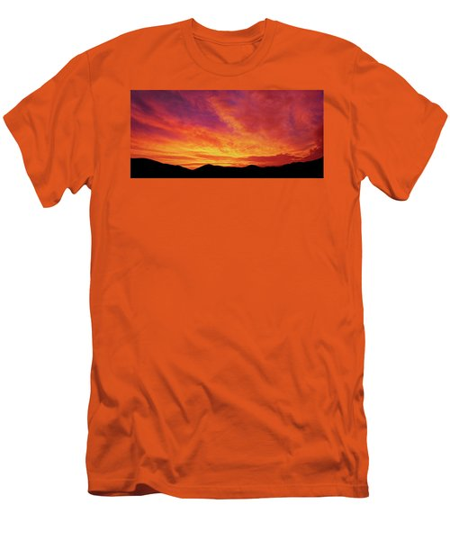 The Morning Sky Ablaze Men's T-Shirt (Athletic Fit)
