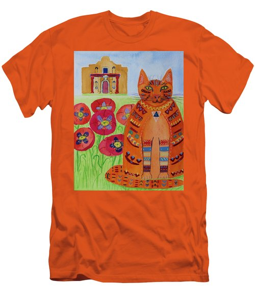 the Orange Alamo Cat Men's T-Shirt (Athletic Fit)