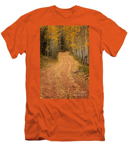The Pathway To Fall Men's T-Shirt (Slim Fit) by Ronda Kimbrow