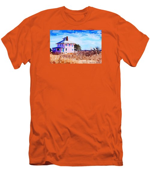 The Pink House, Newburyport, Ma. Men's T-Shirt (Athletic Fit)