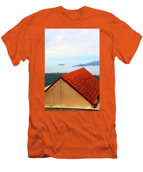 The Roof Be Told Men's T-Shirt (Slim Fit) by Jez C Self