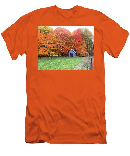 Men's T-Shirt (Slim Fit) featuring the photograph The Sugar Shack by Pat Purdy