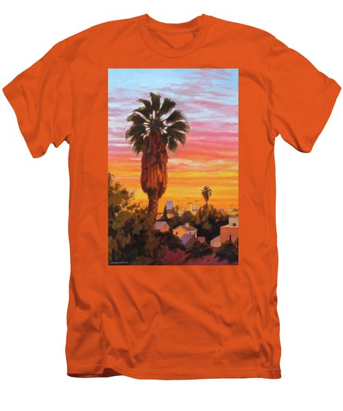 Men's T-Shirt (Slim Fit) featuring the painting The Urban Jungle by Andrew Danielsen