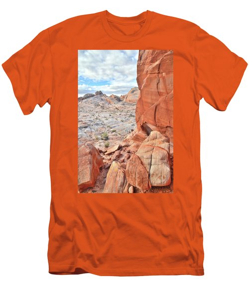 The Wall At Valley Of Fire Men's T-Shirt (Slim Fit) by Ray Mathis