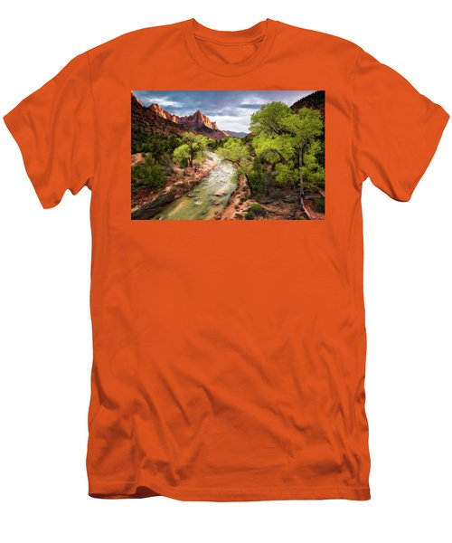 Men's T-Shirt (Slim Fit) featuring the photograph The Watchman by Eduard Moldoveanu