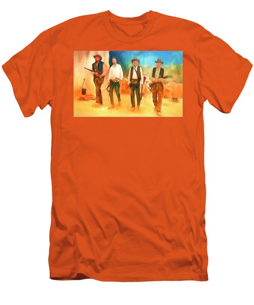 Men's T-Shirt (Slim Fit) featuring the painting The Wild Bunch by Michael Cleere