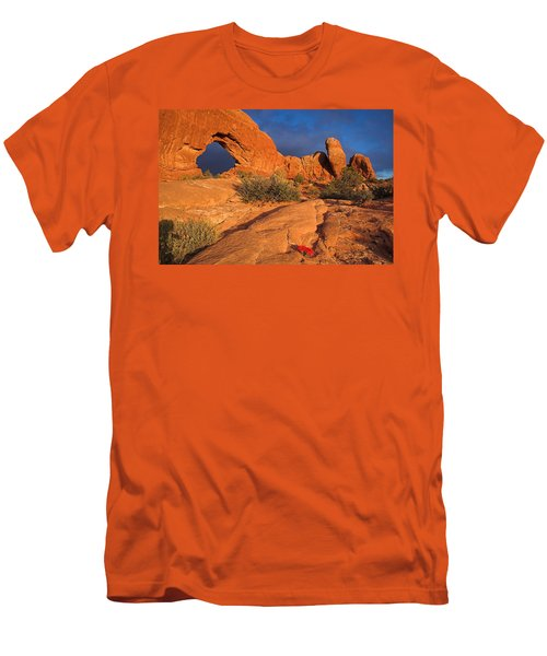 Men's T-Shirt (Slim Fit) featuring the photograph The Window by Steve Stuller