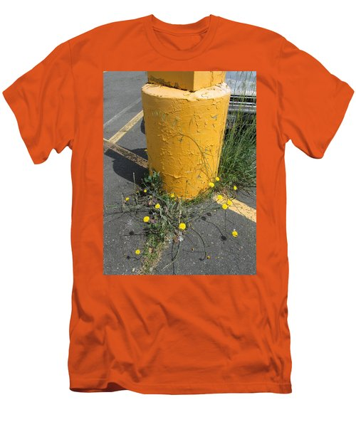 Men's T-Shirt (Slim Fit) featuring the photograph They Are Still        Here by Marie Neder