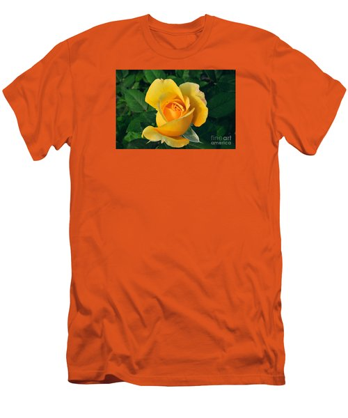 Men's T-Shirt (Slim Fit) featuring the photograph This Bud's For You by Sandy Molinaro