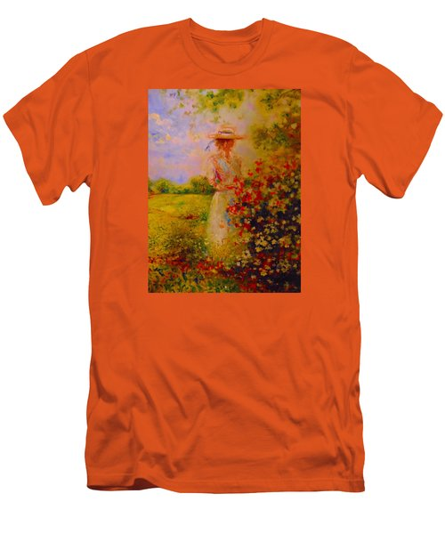 Men's T-Shirt (Slim Fit) featuring the painting This Is A Good View by Emery Franklin