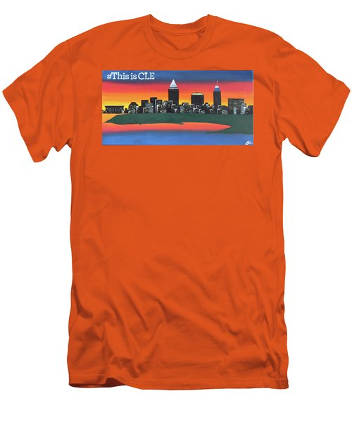 This Is Cle Men's T-Shirt (Slim Fit) by Cyrionna The Cyerial Artist
