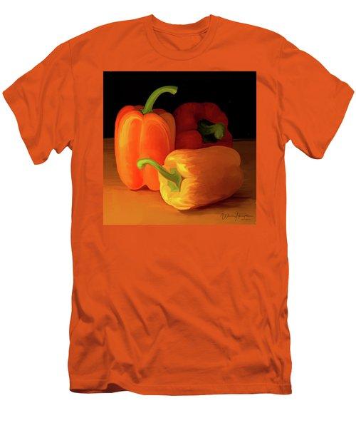Three Peppers 01 Men's T-Shirt (Slim Fit) by Wally Hampton