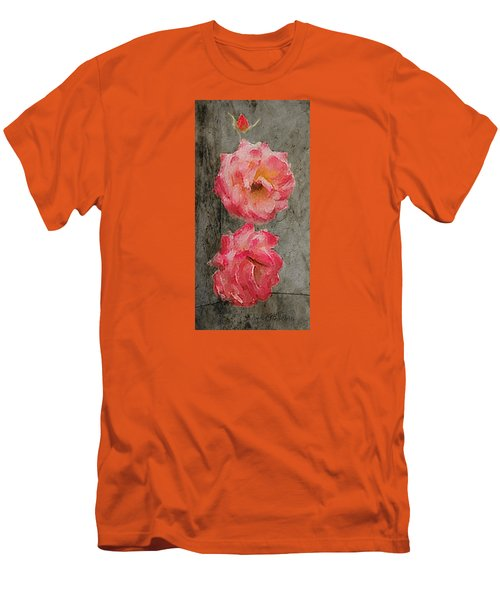 Men's T-Shirt (Slim Fit) featuring the digital art Three Roses by Dale Stillman