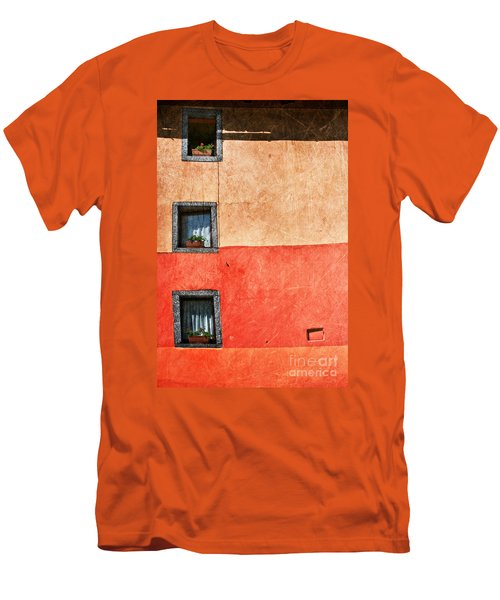 Three Vertical Windows Men's T-Shirt (Slim Fit) by Silvia Ganora