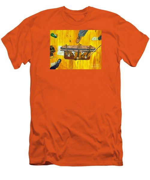 Men's T-Shirt (Slim Fit) featuring the painting Three Violins by Jock McGregor