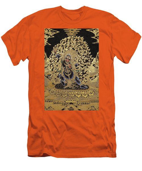 Tibetan Thangka - Vajrapani  Men's T-Shirt (Slim Fit) by Serge Averbukh