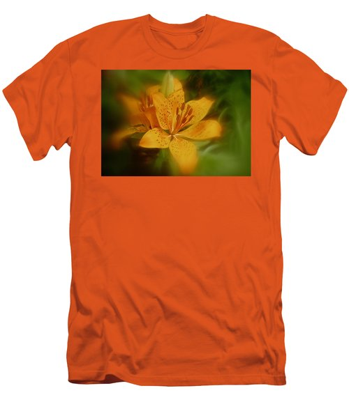 Men's T-Shirt (Slim Fit) featuring the photograph Tiger Lily No. 1 by Richard Cummings