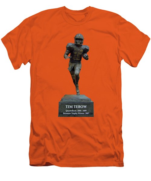 Tim Tebow Transparent For Customization Men's T-Shirt (Slim Fit) by D Hackett