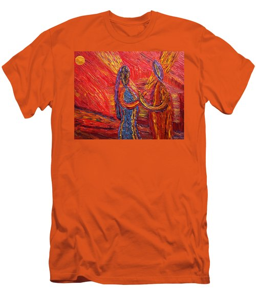 Men's T-Shirt (Slim Fit) featuring the painting To Be My Second Self... by Vadim Levin