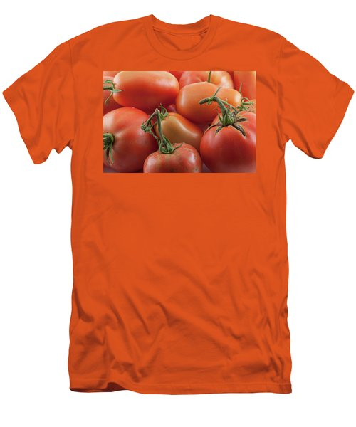 Men's T-Shirt (Athletic Fit) featuring the photograph Tomato Stems by James BO Insogna