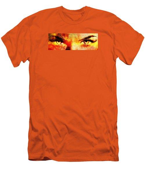 Torrid Eyes Men's T-Shirt (Slim Fit) by Andrea Barbieri