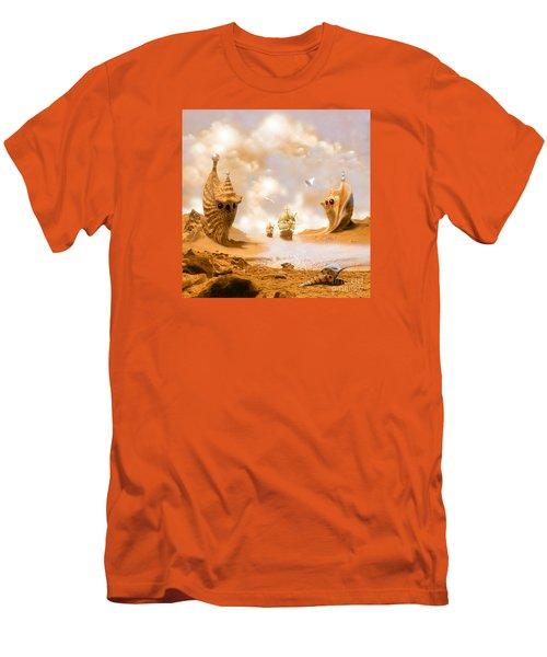 Men's T-Shirt (Slim Fit) featuring the digital art Treasure Island by Alexa Szlavics