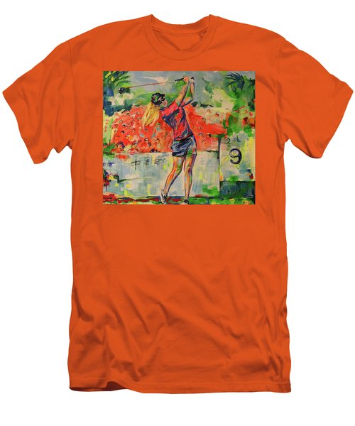 Treibschlag Vom 9 Tee  Drive From The 9th Tee Men's T-Shirt (Slim Fit) by Koro Arandia