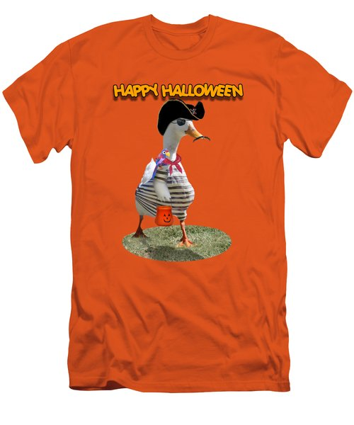 Trick Or Treat For Cap'n Duck Men's T-Shirt (Slim Fit) by Gravityx9 Designs
