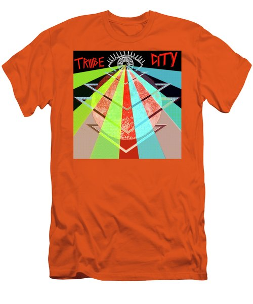 Men's T-Shirt (Slim Fit) featuring the painting Triiibe City For Bxdizzy419 by Chief Hachibi