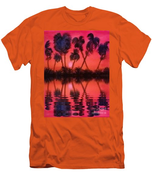 Tropical Heat Wave Men's T-Shirt (Slim Fit) by Holly Martinson