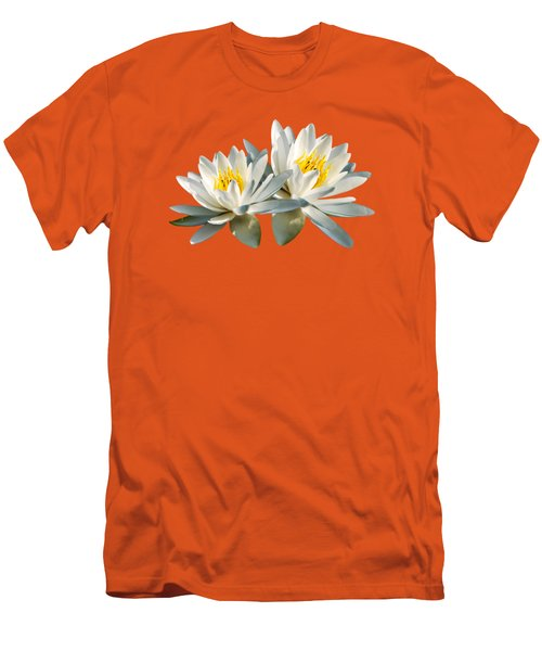 Men's T-Shirt (Athletic Fit) featuring the photograph Tropical Water Lily by Christina Rollo