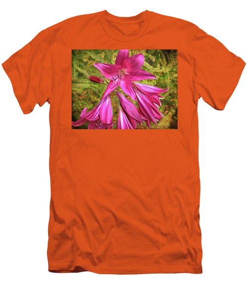 Men's T-Shirt (Athletic Fit) featuring the photograph Trumpet Flowers by Lewis Mann