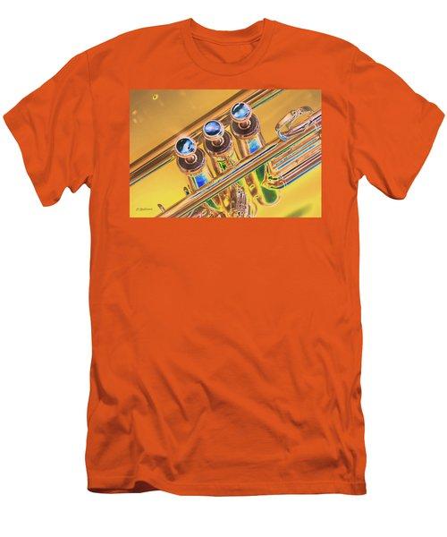 Trumpet Keys Men's T-Shirt (Slim Fit) by Pamela Williams