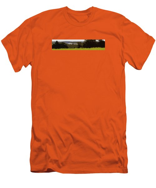 Men's T-Shirt (Slim Fit) featuring the photograph Tucked Away by Spyder Webb
