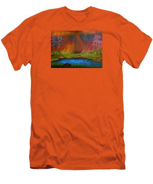 Men's T-Shirt (Slim Fit) featuring the painting Turmoil by Sheri Keith