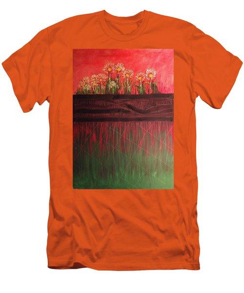 Twelve Daises In Window Box Men's T-Shirt (Athletic Fit)