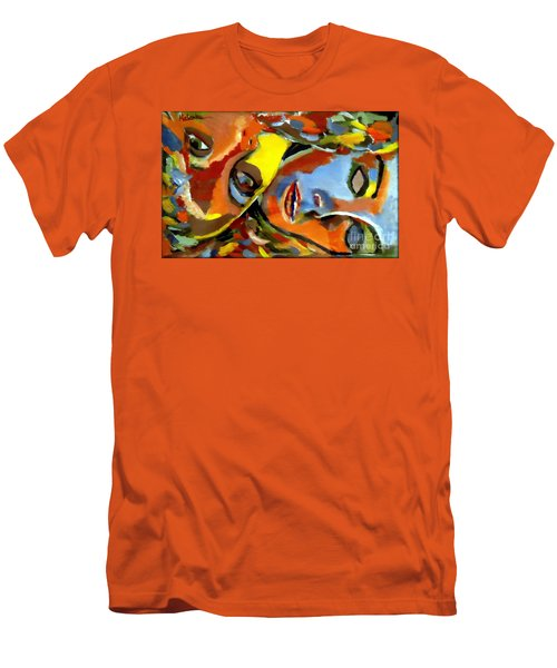 Men's T-Shirt (Slim Fit) featuring the painting Two Souls by Helena Wierzbicki
