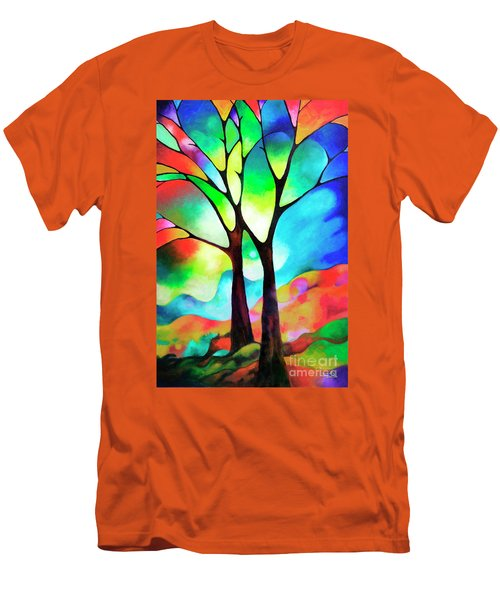 Two Trees Men's T-Shirt (Slim Fit) by Sally Trace