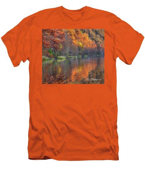 Tyler Lake Men's T-Shirt (Slim Fit) by Tim Fitzharris